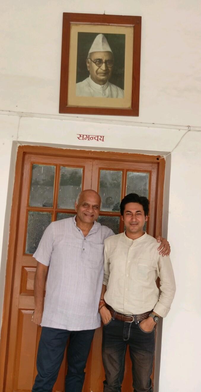 Project Initiation at Gandhi Ashram, New Delhi with Associate Director, Mr.Hari Verma to help the underprivileged children
