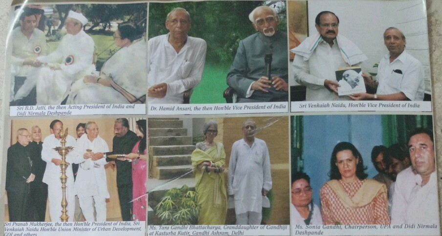 Dignitaries at Gandhi Aahram-2